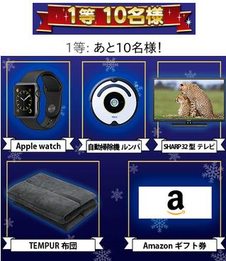 クリスマスプレゼント★1等の賞品〜ワクワクメールのクリスマスプレゼント★キャンペーン